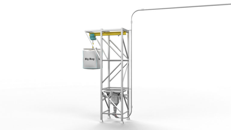 Batter Coating Preparation System - powder handling render