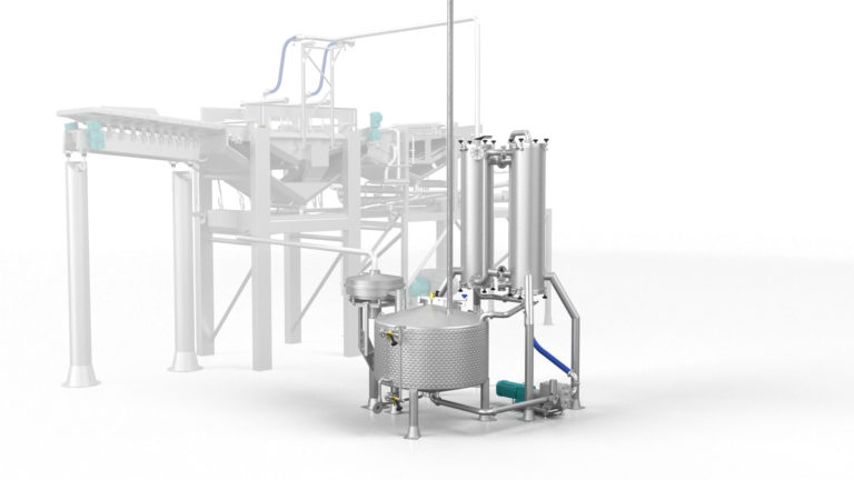 Batter Coating Preparation System - batter return unit render