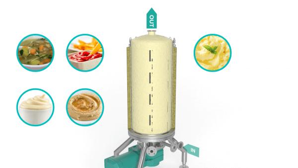 Scraped Surface Heat Exchanger - mashed potatoes render