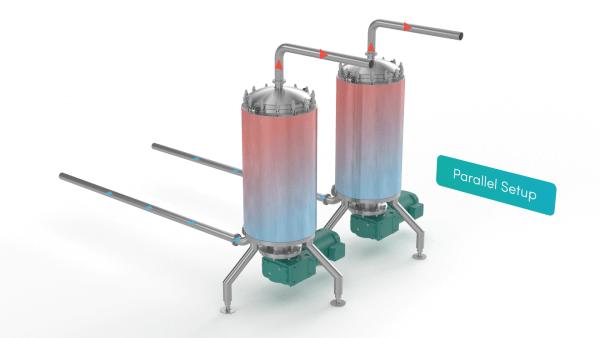 Scraped Surface Heat Exchanger - parallel setup render