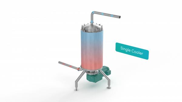 Scraped Surface Heat Exchanger - single cooler render