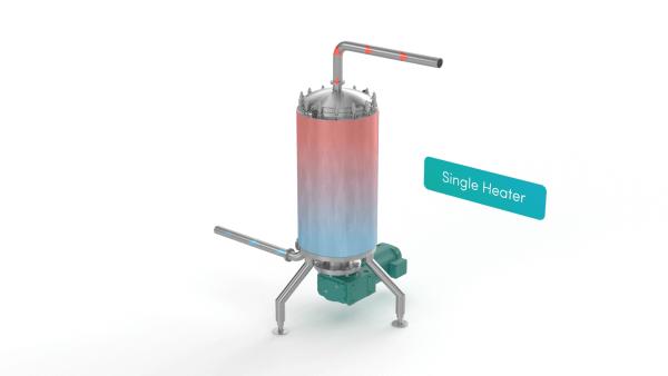 Scraped Surface Heat Exchanger - single heater render
