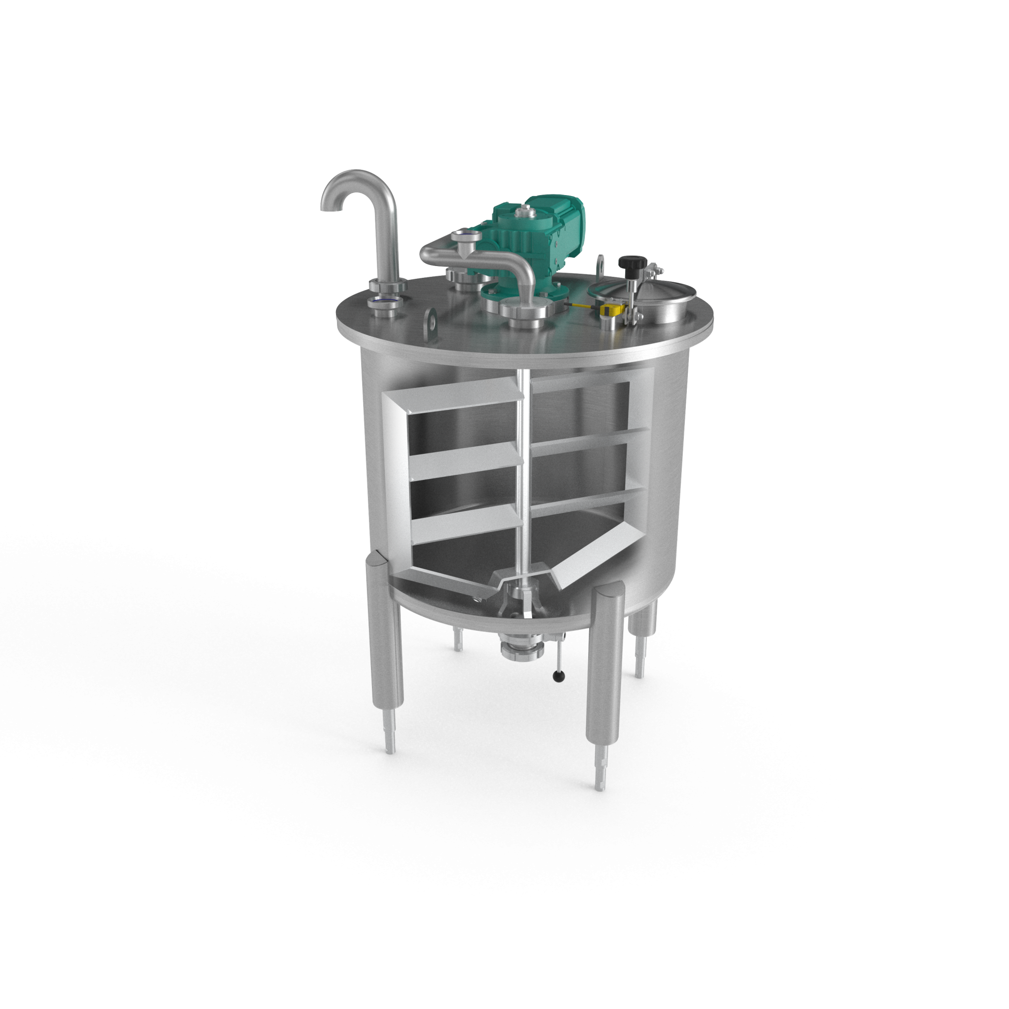 Stainless Steel Buffer Tank - render