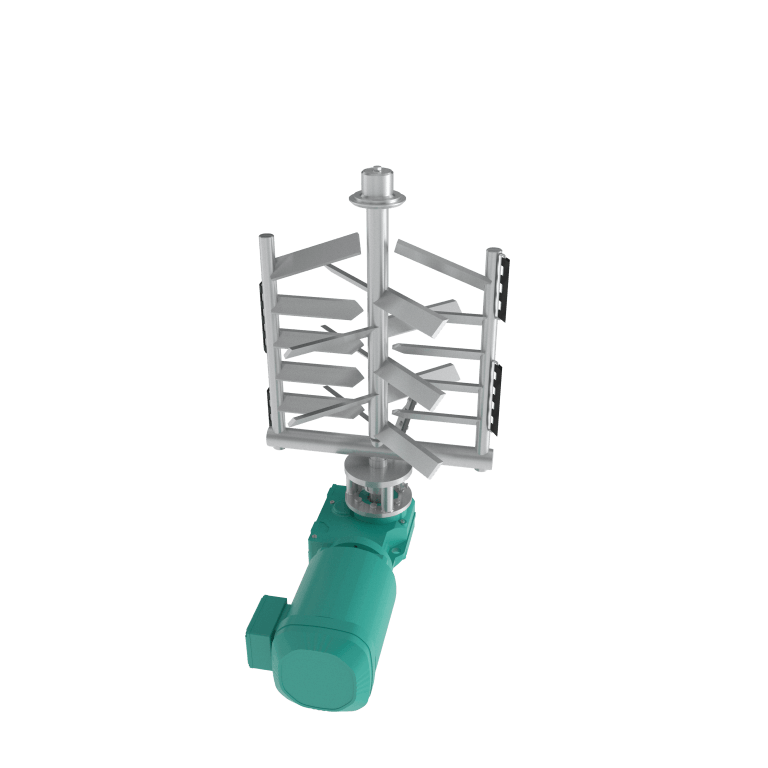 Stainless Steel agitator - gate agitator render