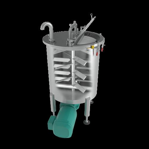 Stainless Steel Mixing Tank - inside render